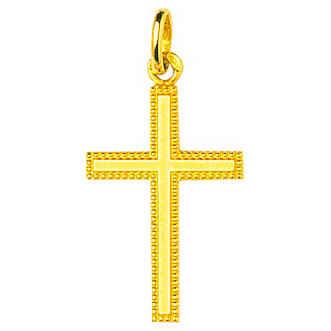 Photo de Croix personnalisée - Or jaune 18ct