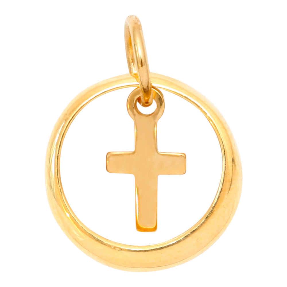 Photo de Pendentif croix - Or jaune 9ct