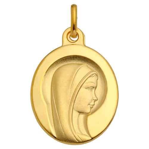 Photo de Médaille Vierge bienveillante - Or jaune 9ct