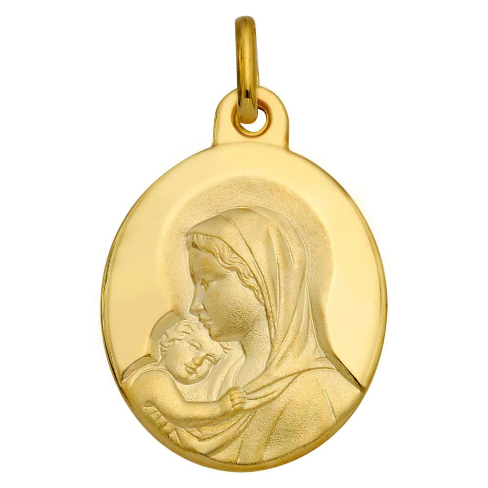 Photo de Médaille Vierge amour maternel - Or jaune 18ct