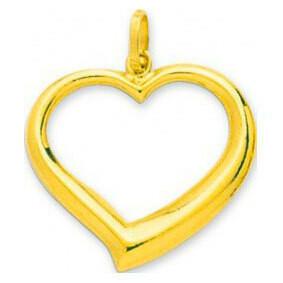 Photo de Pendentif coeur ajouré - Or jaune 18ct