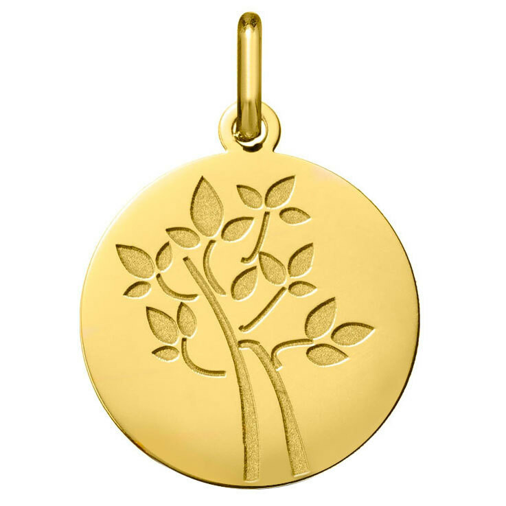Photo de Médaille Arbre naissant - Or jaune 18ct