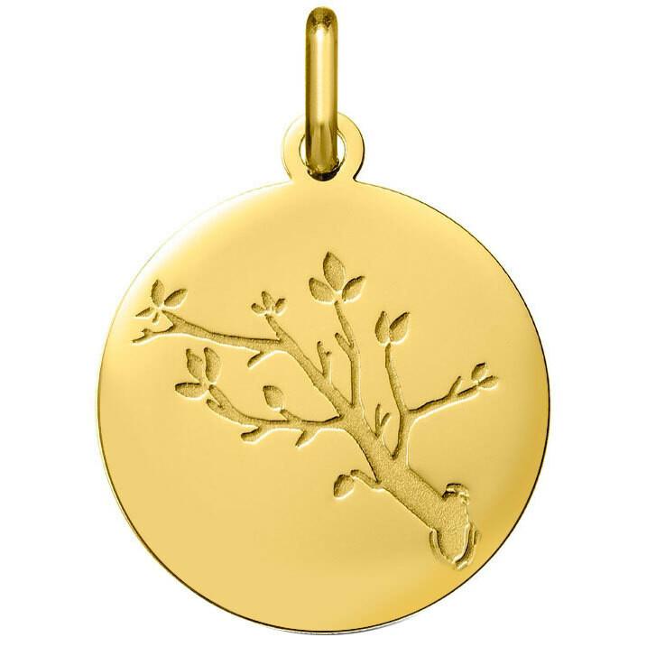 Photo de Médaille branche de cerisier - Or jaune 18ct