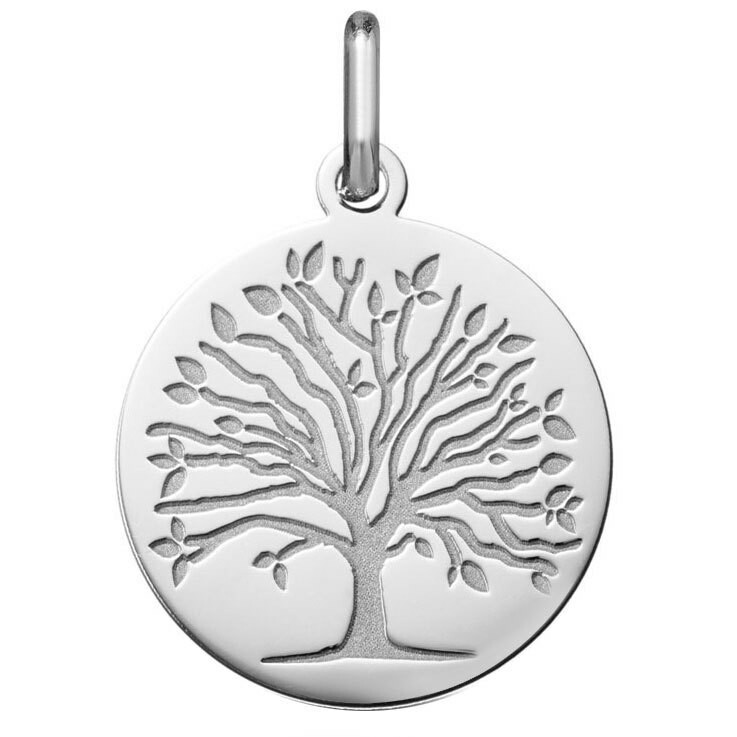 Photo de Médaille Arbre de vie - saison printemps - Or blanc 18ct