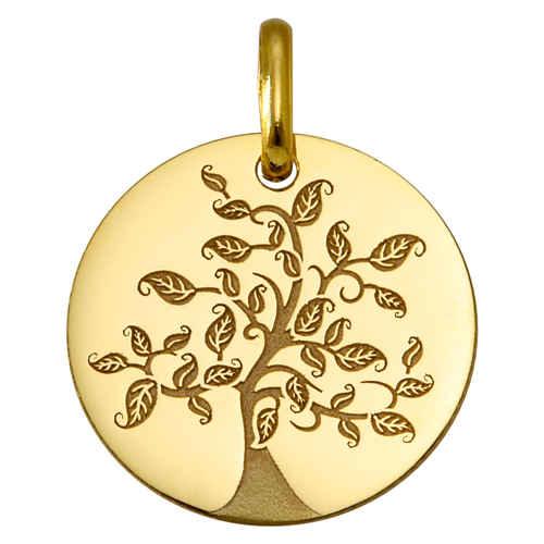 Photo de Médaille Arbre de vie virvoltant - Or jaune 9ct