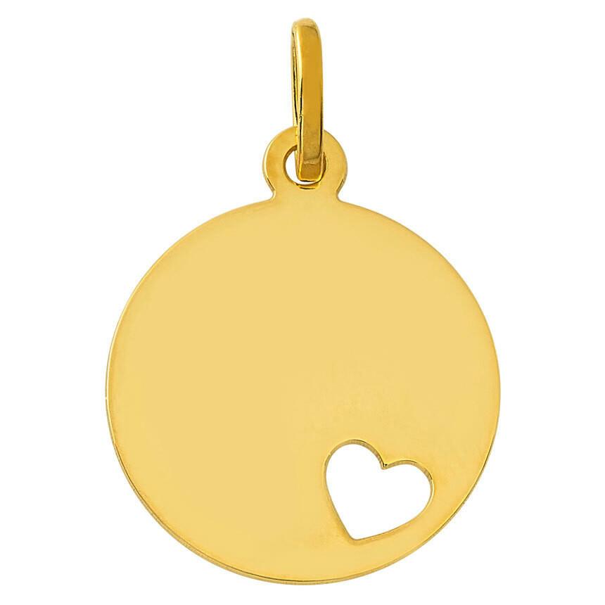 Photo de Médaille coeur ajouré - Or jaune 9ct