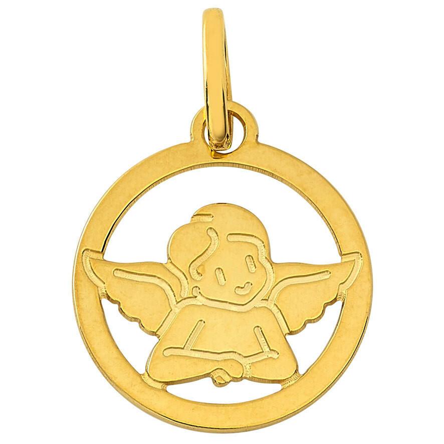 Photo de Médaille Ange ajouré - Or jaune 9ct