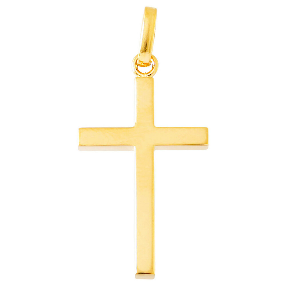 Photo de Croix fil carré - Or jaune 18ct
