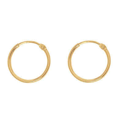 Photo de Boucles d'oreilles - créoles - Or jaune 18ct
