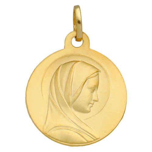 Photo de Médaille Vierge Marie au voile - Or jaune 18ct