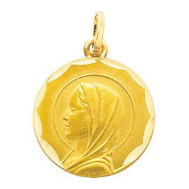Photo de Médaille Vierge ciselé - Or jaune 18ct