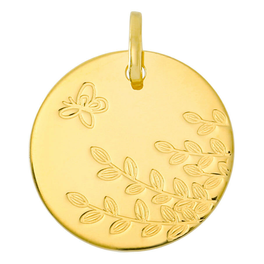 Photo de Médaille papillon LuluCastagnette - Or jaune 9ct