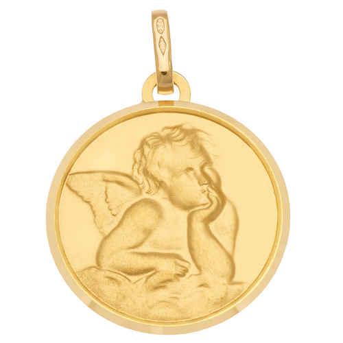 Photo de Médaille Ange pensif - Or jaune 18ct