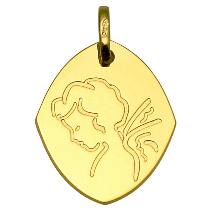Photo de Médaille Ange goutte - Or jaune 9ct