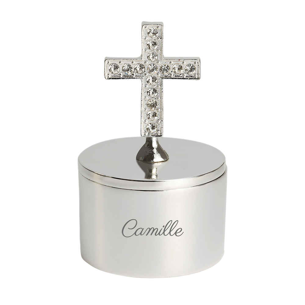 Photo de Petite boite à bijoux croix