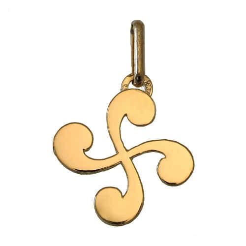 Photo de Pendentif croix basque - Or jaune 9ct