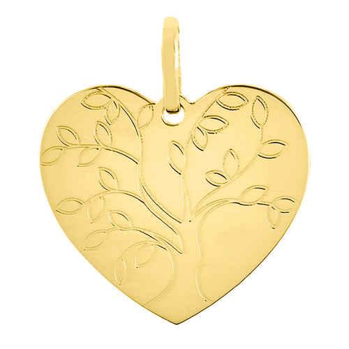 Photo de Pendentif coeur arbre de vie - Or jaune 18ct