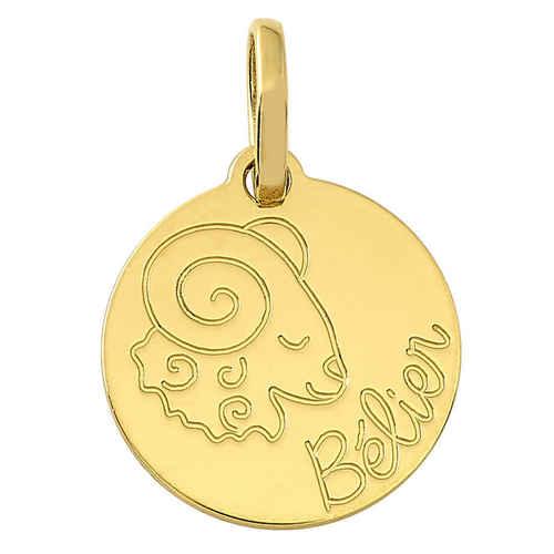 Photo de Petit médaille signe zodiaque - Or jaune 18ct