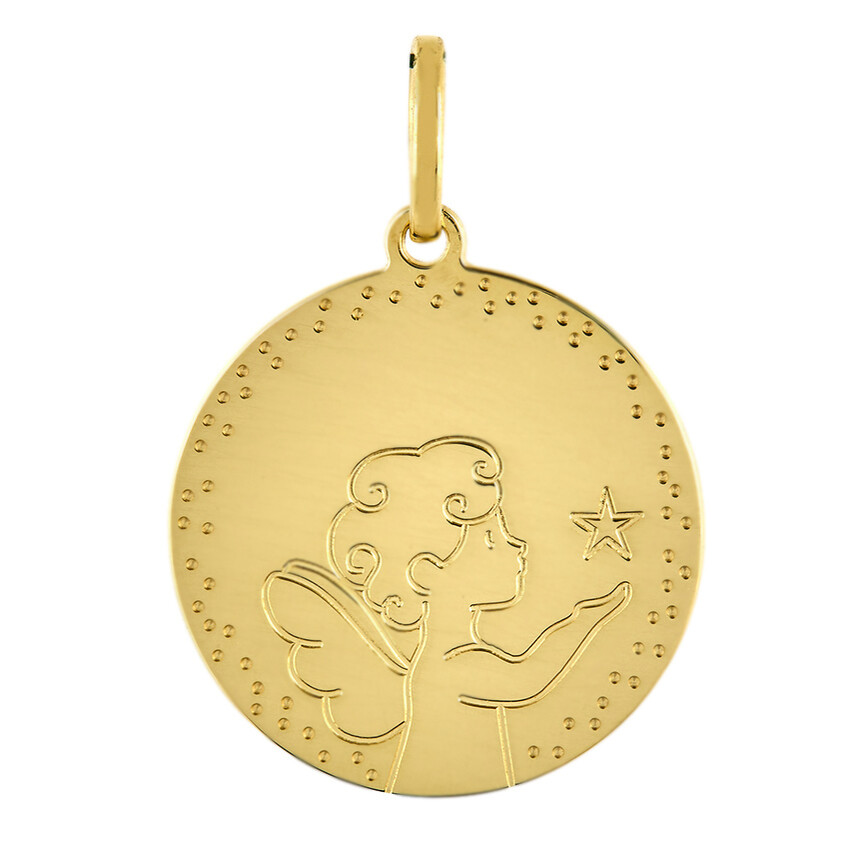 Photo de Médaille Ange étoile (or jaune 18ct)