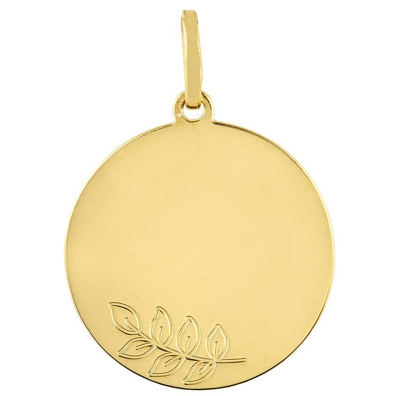 Photo de Médaille Laurier - Or jaune 18ct
