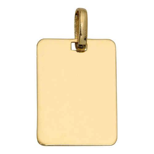 Photo de Pendentif plaque rectangle - Or jaune 9ct