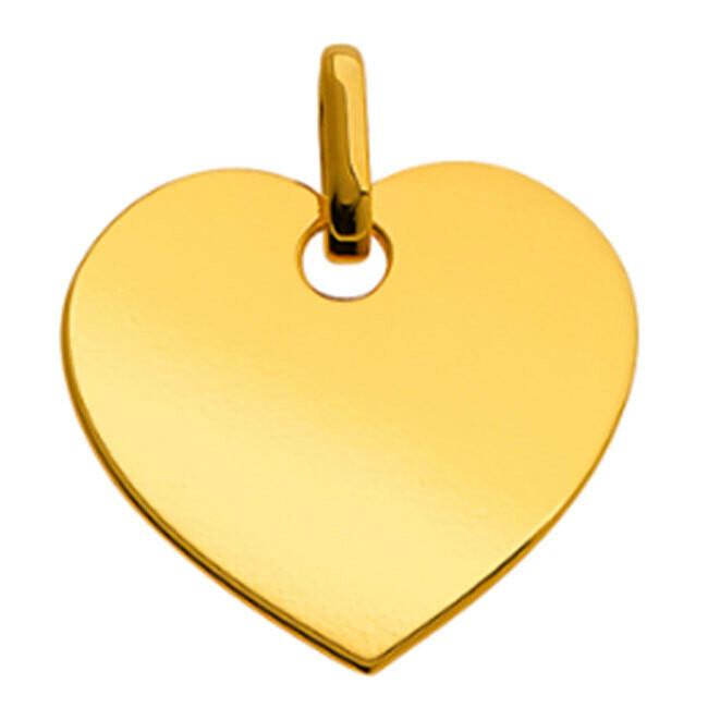 Photo de Pendentif coeur élégant - Or jaune 9ct