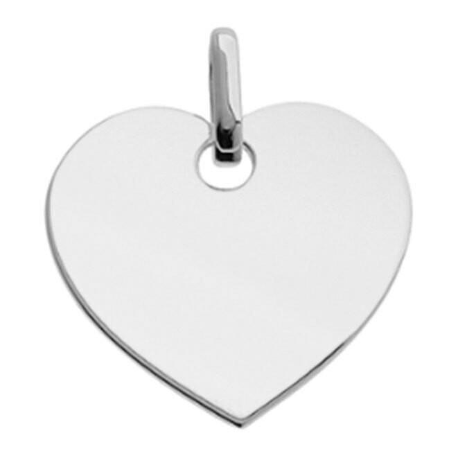 Photo de Pendentif coeur élégant - Or blanc 9ct
