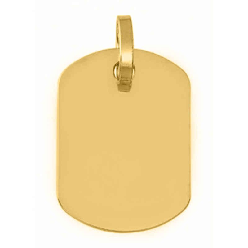 Photo de Pendentif plaque tonneau - Or jaune 9ct