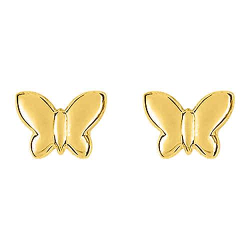 Photo de Boucles d'oreilles Papillons - Vis - Or jaune 9ct