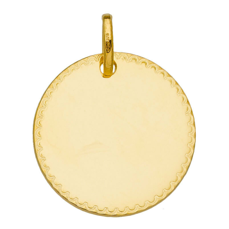 Photo de Médaille dentelles - Or jaune 9ct