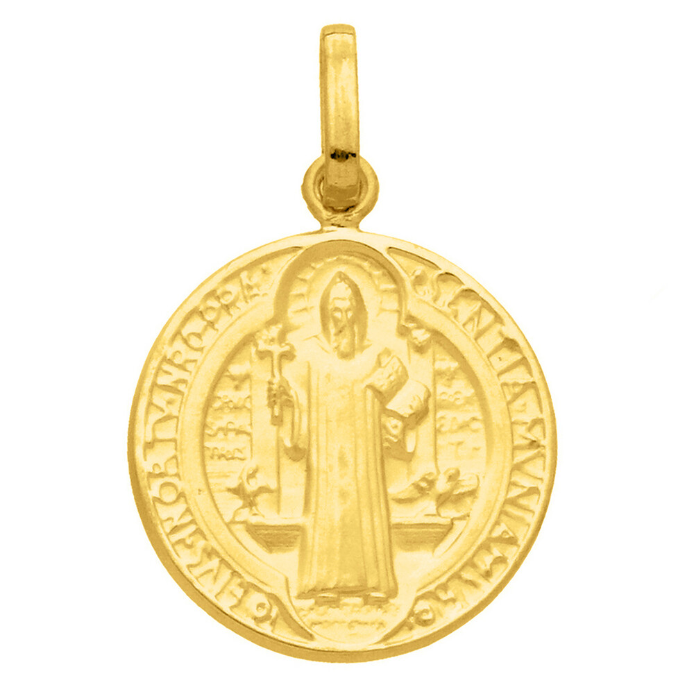 Photo de Médaille Saint Benoît - Or jaune 18ct