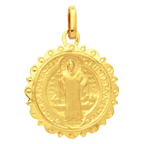 Photo de Médaille Saint Benoît - Or jaune 18ct