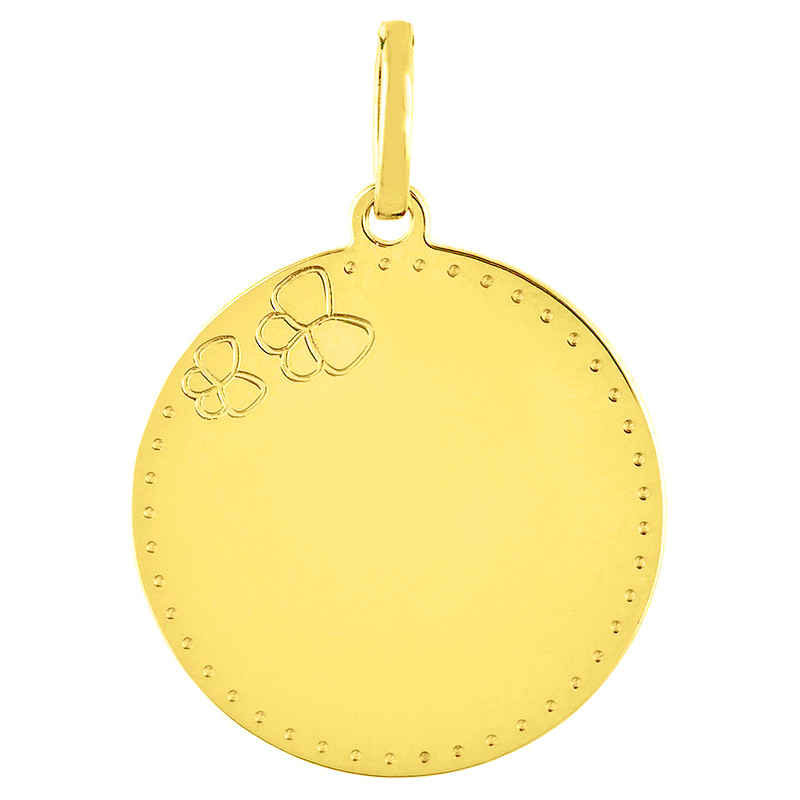 Photo de Médaille Papillons - Or jaune 18ct