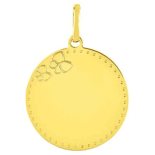 Photo de Médaille Papillons - Or jaune 18ct