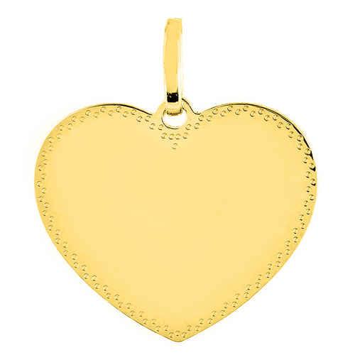 Photo de Médaille coeur perlés - Or jaune 18ct
