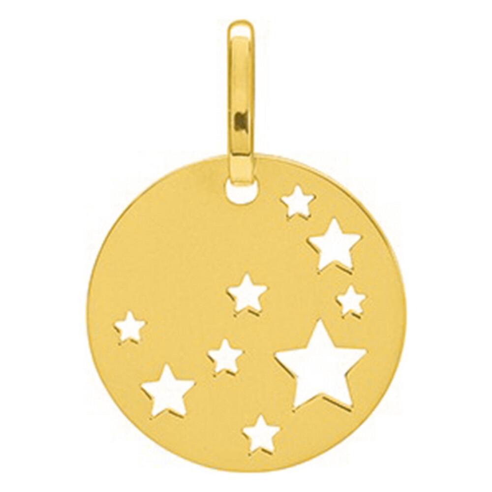 Photo de Médaille étoiles ajourée - Or jaune 18ct