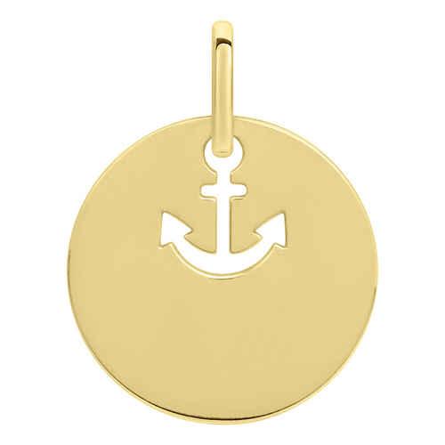 Photo de Médaille ancre ajourée - Or jaune 18ct