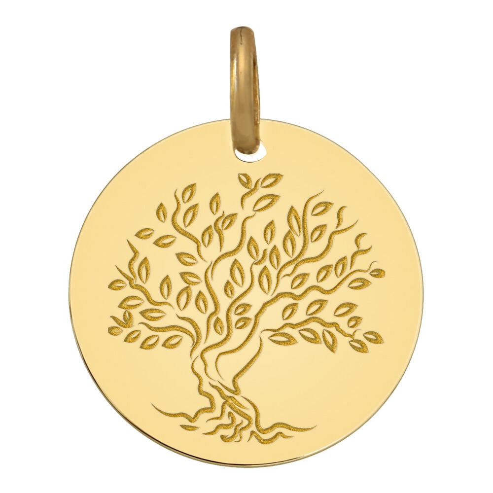 Photo de Médaille Arbre de vie fleurissant - Or jaune 18ct