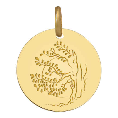 Photo de Médaille Arbre coucher de soleil - Or jaune 18ct