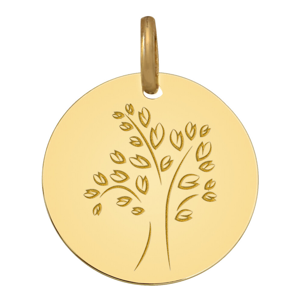 Photo de Médaille Arbre de vie moderne - Or jaune 9ct