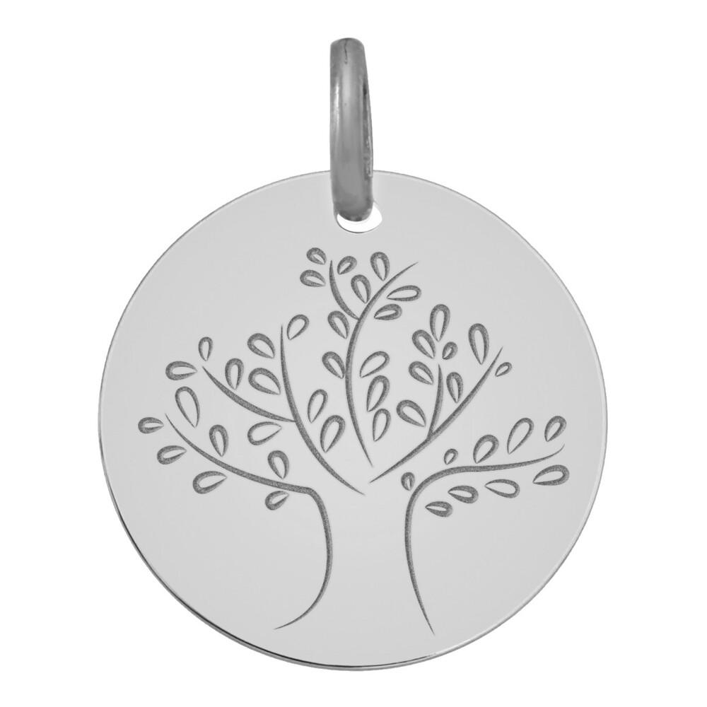 Photo de Médaille Arbre de vie magnifique - Or blanc 9ct