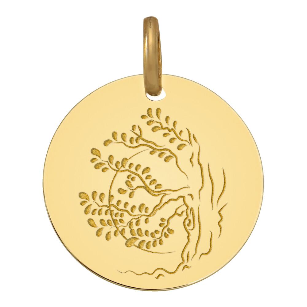 Photo de Médaille Arbre coucher de soleil - Or jaune 9ct