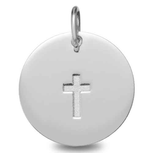 Photo de Médaille Croix - Or Blanc 9ct