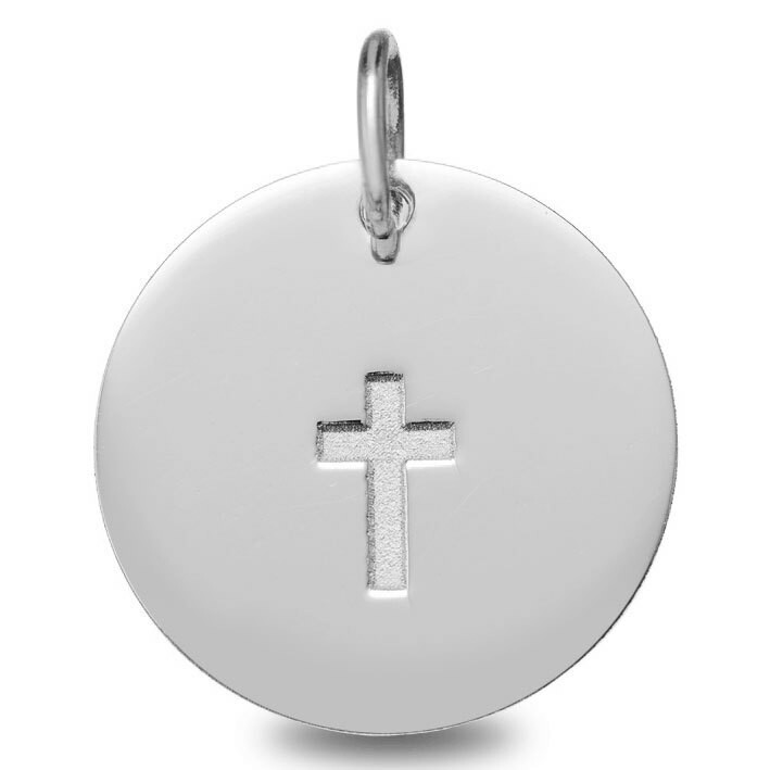 Photo de Médaille Croix - Or Blanc 18ct