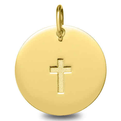 Photo de Médaille Croix - Or jaune 18ct