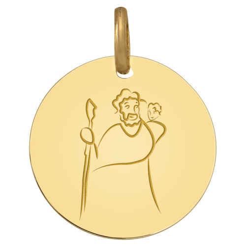 Photo de Médaille Saint Christophe - Or jaune 9ct