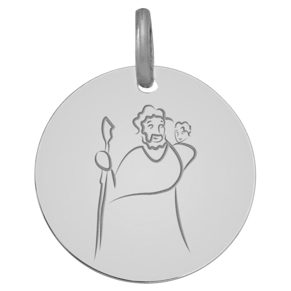 Photo de Médaille Saint- Christophe - Or blanc 18ct
