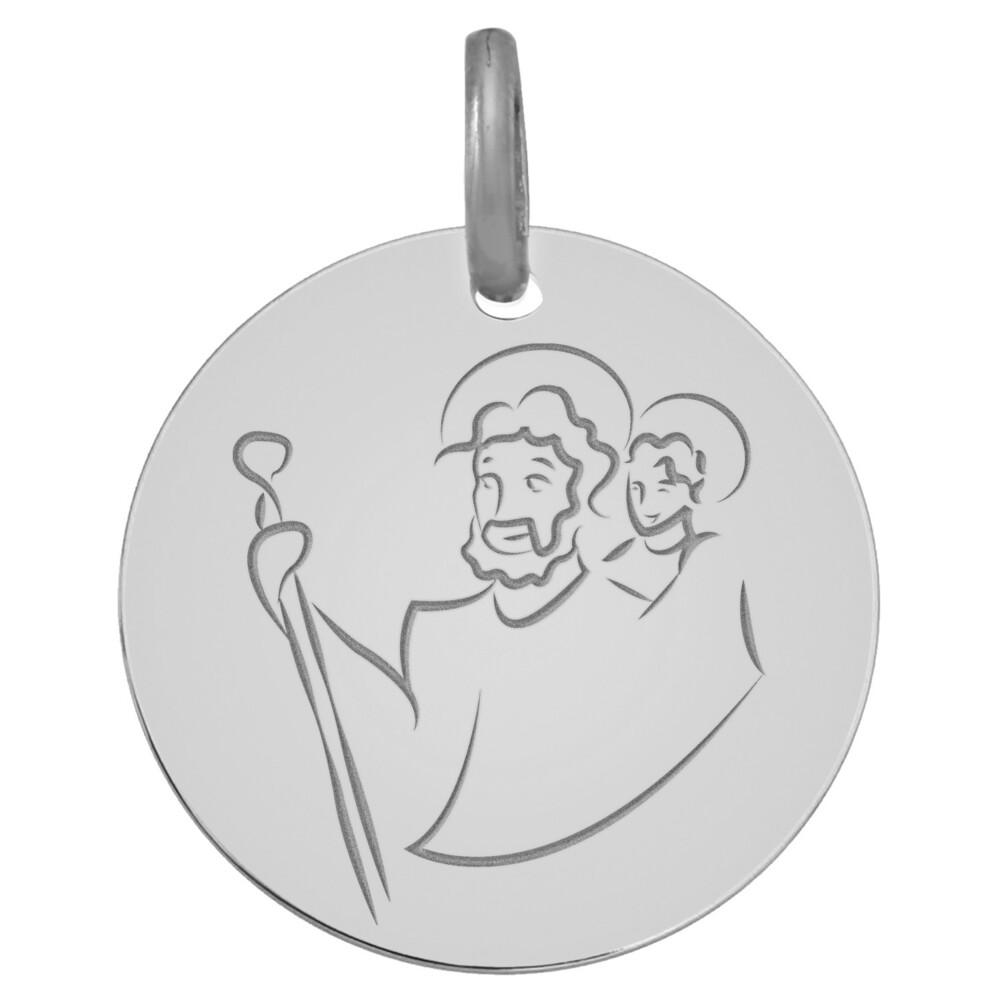 Photo de Médaille Saint- Christophe - Or blanc 9ct