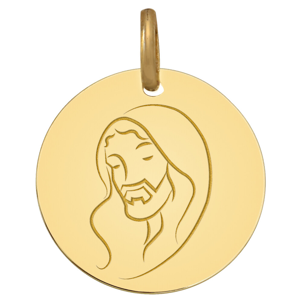 Photo de Médaille Christ - Or jaune 9ct