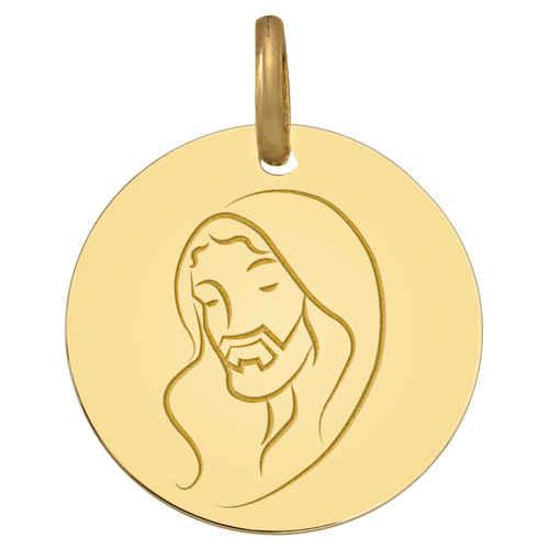 Photo de Médaille du Christ  - Or jaune 18ct